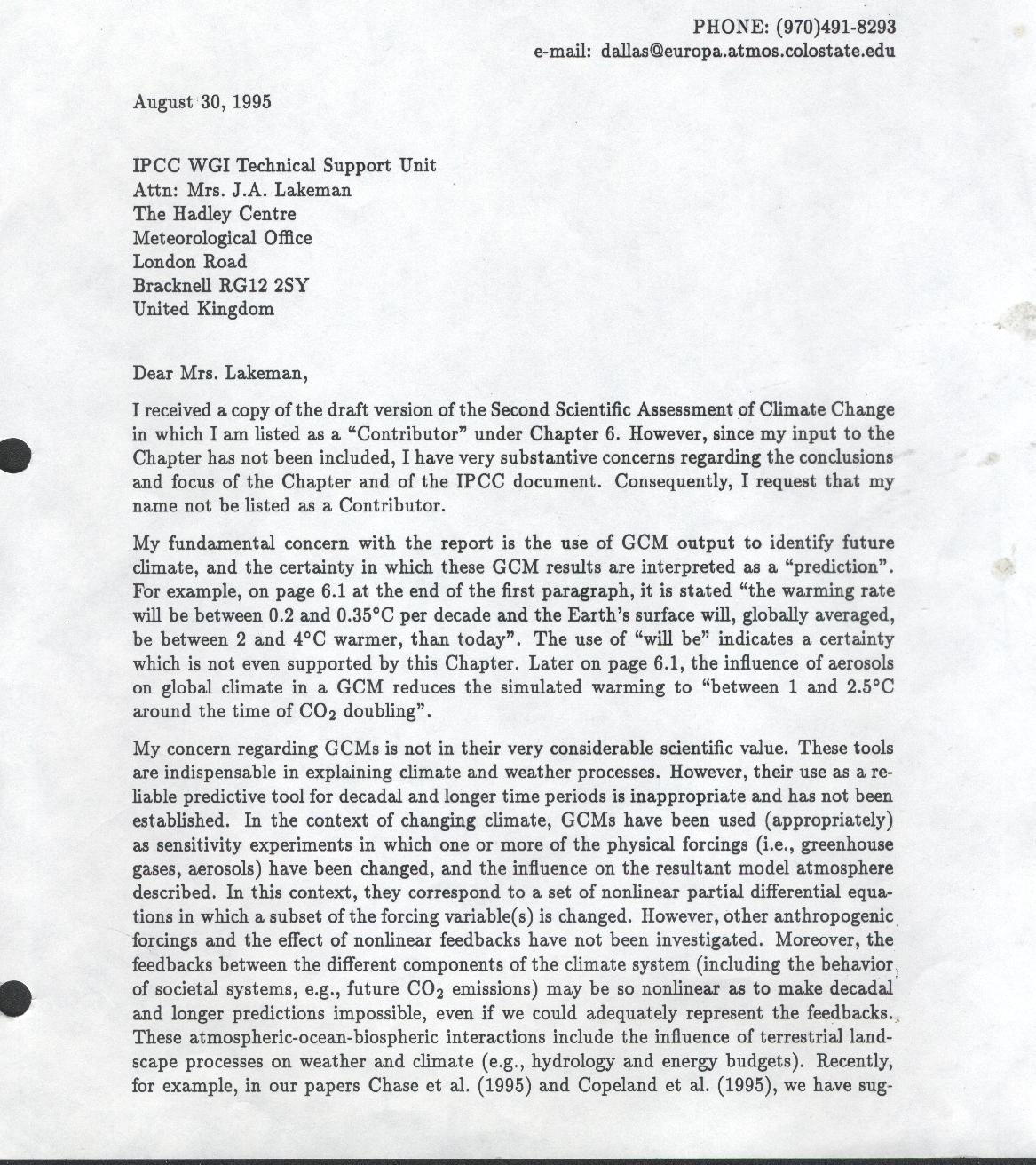 2011 climate science roger pielke sr comments off on my 1995 resignation